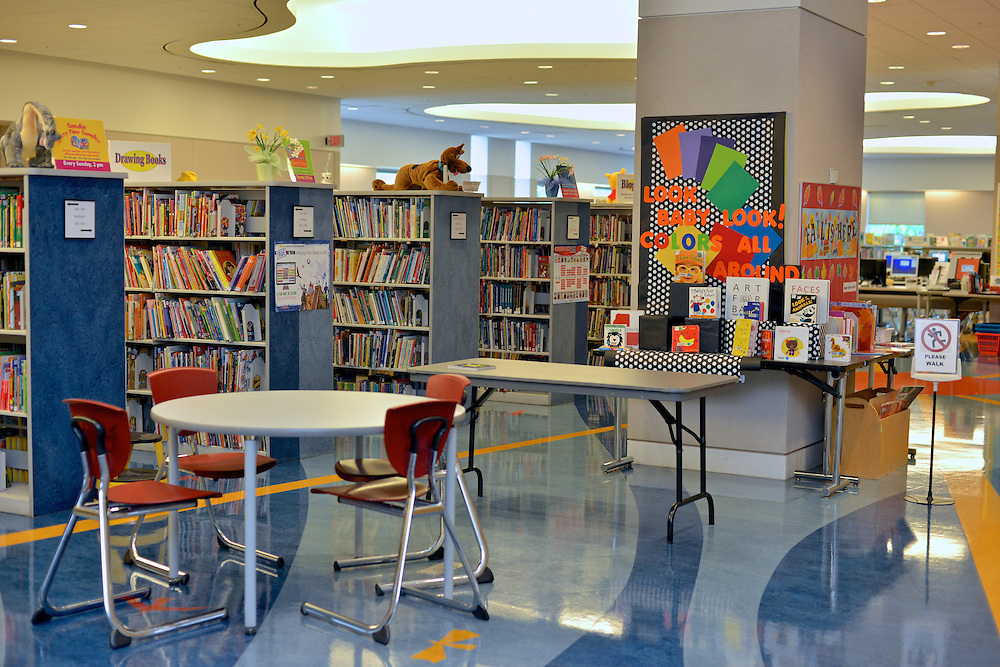 Children's section at the Akron-Summit County Public Library.