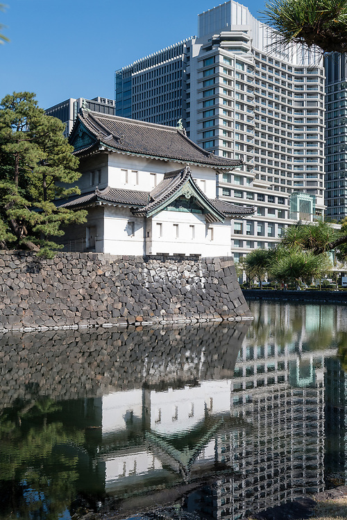 Inside the grounds of the Imperial Palace in Tokyo.