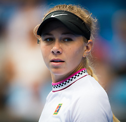 January 18, 2019 - Melbourne, AUSTRALIA - Amanda Anisimova of the United States in action during her third-round match at the 2019 Australian Open Grand Slam tennis tournament (Credit Image: © AFP7 via ZUMA Wire)