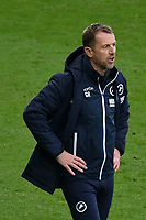 Football - 2020 / 2021 Sky Bet Championship - Swansea City vs Birmingham City - Liberty Stadium<br /> <br /> Millwall manager Gary Rowett on the touchline hands on hips as his team head to defeat