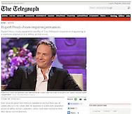 Rupert Penry-Jones / The Telegraph / 4th January 2012.