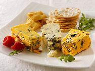 Cheese & biscuits with stilton, white stilton & blacksticks cheese.