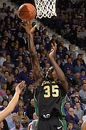 Baylor forward Abiola Wabara scores against Kansas State, during the first half at Bramlage Coliseum in Manhattan, Kansas, February 25, 2006. The 10 ranked Lady Bears defeated K-State 79-70.