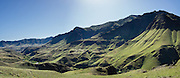 Haas Ridge rises above the Imnaha River along Dug Bar Road, in Hells Canyon National Recreation Area, north of Imnaha, Oregon, USA. On May 20, 2014, the hills were green with spring grass. The entire river is designated Wild and Scenic. This panorama was stitched from 4 overlapping images.