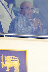 July 23, 2018 - Colombo, Sri Lanka - Sri Lankan cricket team's head coach Chandika Hathurusingha watches the  match during the 4th day's play in the 2nd test cricket match between Sri Lanka and South Africa at SSC International Cricket ground, Colombo, Sri Lanka on Monday  23 July 2018  (Credit Image: © Tharaka Basnayaka/NurPhoto via ZUMA Press)