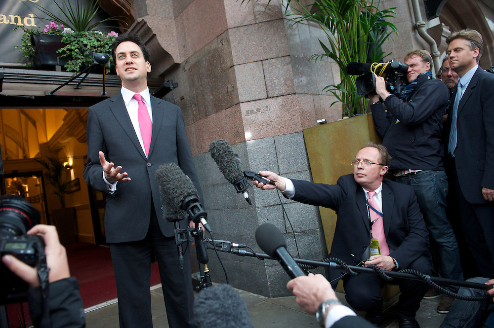 Labour leader Ed Miliband comments on the fact brother David has declined a cabinet post at the Labour Party Conference in Manchester on 29 September 2010, the penultimate day of annual assembly.