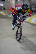 #156 (AZUERO Domenica) ECU during practice at the 2019 UCI BMX Supercross World Cup in Manchester, Great Britain