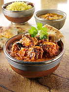 Chicken Dopiaza curry & rice, Indian food recipe  pictures, photos & images