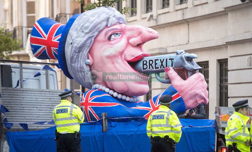 May 9, 2017 - London, London, United Kingdom - Image ©Licensed to i-Images Picture Agency. 09/05/2017. London, United Kingdom. PM on the One Show...Pro European protesters outside the BBC as The British  Prime Minister Theresa May and her husband Philip  appear on BBC The One Show at the BBC HQ in central London ..Picture by i-Images (Credit Image: © i-Images via ZUMA Press)