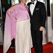 Lorraine Ashbourne and Andy Serki Arrivers at EE British Academy Film Awards in 2019 after-party dinner at Grosvenor house on 10 Feb 2019.