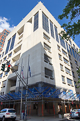 Roof Replacement and Masonry Repairs.  New Haven County Courthouse.  Project No: BI-JD-316A..Architect: Wiss, Janney, Elstner Associates, Inc.    Contractor: Silktown Roofing, Manchester CT..James R Anderson Photography   New Haven CT   photog.com.Date of Photograph: 11 August 2011.Camera View: Northeast, West & South Elevations, Southwest corner.