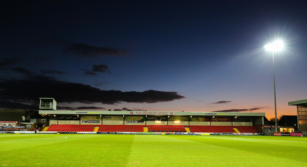 A general view of Highbury Stadium, home of Fleetwood Town FC<br /> <br /> Photographer Alex Dodd/CameraSport<br /> <br /> The EFL Sky Bet League One - Fleetwood Town v Portsmouth - Tuesday 20th February 2018 - Highbury Stadium - Fleetwood<br /> <br /> World Copyright © 2018 CameraSport. All rights reserved. 43 Linden Ave. Countesthorpe. Leicester. England. LE8 5PG - Tel: +44 (0) 116 277 4147 - admin@camerasport.com - www.camerasport.com