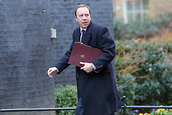© Licensed to London News Pictures. 05/02/2019, London, UK. Matthew Hancock - Secretary of State for Health and Social Care arrives in Downing Street for the weekly Cabinet meeting. Photo credit: Dinendra Haria/LNP