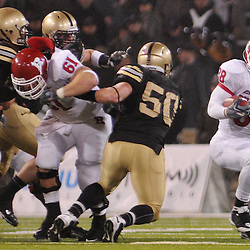 Oct 23, 2009; West Point, N.Y., USA; Rutgers running back Joe Martinek (38) runs around his blocking offensive line during Rutgers' 27 - 10 victory over Army at Michie Stadium.