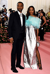 Chiwetel Ejiofor and Frances Aaternir attending the Metropolitan Museum of Art Costume Institute Benefit Gala 2019 in New York, USA.