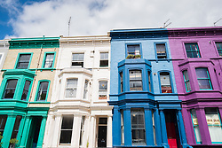 A row of houses in Notting Hill, London, a few minutes was from the Grenfell Tower. The borough of Kensington and Chelsea is one of the most polarised in Great Britain, with some of the most expensive real estate in the UK just a short walk from several of the most deprived wards in the country - including the area around the Grenfell Tower. Picture date: Wednesday July 12th, 2017. Photo credit should read: Matt Crossick/ EMPICS Entertainment.