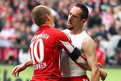 12.03.2011, Allianz Arena, Muenchen, GER, 1.FBL, FC Bayern Muenchen vs Hamburger SV, im Bild  Jubel nach dem Tor zum 4-0 durch Franck Ribery (Bayern #7) mit Arjen Robben (Bayern #10)  , EXPA Pictures © 2011, PhotoCredit: EXPA/ nph/  Straubmeier       ****** out of GER / SWE / CRO  / BEL ******