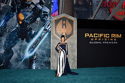 Lily Ji attends the Pacific Rim Uprising global premiere at the TCL Chinese Theatre on March 21, 2018 in Los Angeles, CA, USA. Photo by Lionel Hahn/ABACAPRESS.COM
