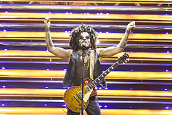 July 4, 2018 - Madrid, Spain - LENNY KRAVITZ performs live on stage at WiZink Center in Madrid (Credit Image: © Jack Abuin via ZUMA Wire)