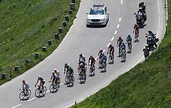 04.07.2012, Osttirol, AUT, 64. Oesterreich Rundfahrt, 4. Etappe, Lienz - St. Johann Alpendorf, im Bild das Verfolgerfeld // during the 64rd Tour of Austria, Stage 4, from Lienz to St. Johann Alpendorf, Lienz, Austria on 2012/07/04. EXPA Pictures © 2012, PhotoCredit: EXPA/ Johann Groder