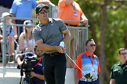 March 23, 2019 - Palm Harbor, FL, U.S. - PALM HARBOR, FL - MARCH 23: Paul Casey watches the flight of his tee shot during the third round of the Valspar Championship on March 23, 2019, at Westin Innisbrook-Copperhead Course in Palm Harbor, FL. (Photo by Cliff Welch/Icon Sportswire) (Credit Image: © Cliff Welch/Icon SMI via ZUMA Press)