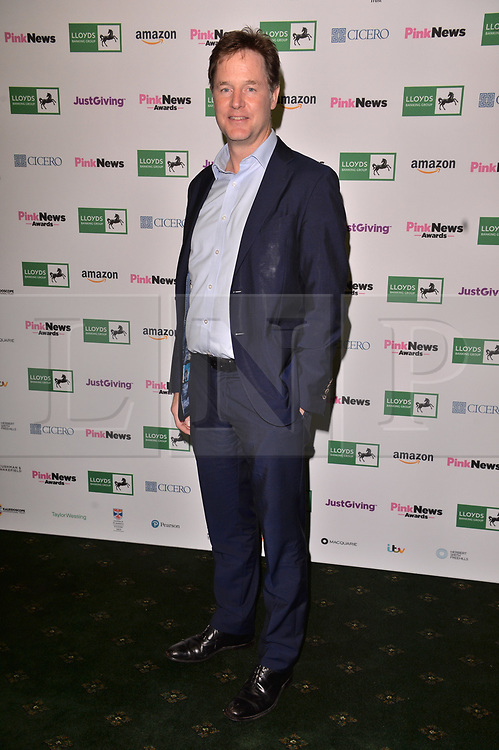 © Licensed to London News Pictures. 17/10/2018. London, UK. Sir Nick Clegg attends the Pink News Awards 2018 held at Church House. Photo credit: Ray Tang/LNP