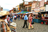 Tepoztlan Market, Mexico - On Sundays the market place in Tepoztlan is a palatte of colours, smells, people, free roaming donkeys and local products.