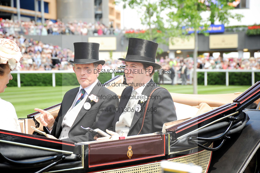Left to right, ? and the EARL OF HOPTOUN at the third day of the Royal Ascot 2010 (Ladies Day) Racing Festival at Ascot Racecourse, Bershire on 17th June 2010.