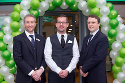 Director's Adam Gordon, Craig Daker and Ian Hobson, at the official opening of the new Specsavers store at 70 St John Road, Corstorphine, Edinburgh.