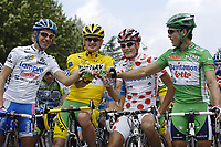 Sykkel<br /> Tour de France 2006<br /> Siste etappe Paris<br /> Foto: Dppi/Digitalsport<br /> NORWAY ONLY<br /> <br /> CYCLING - UCI PRO TOUR - TOUR DE FRANCE 2006 - 23/07/2006 <br />                         <br /> STAGE 20 - ANTHONY > PARIS - DAMIANO CUNEGO (ITA) / LAMPRE - FLOYD LANDIS (USA) / PHONAK / WINNER - MICKAEL RASMUSSEN (DEN) / RABOBANK - ROBBIE MC EWEN (AUS) / DAVITAMON-LOTTO
