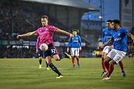 Queens Park Rangers Forward, Matt Smith (17) with a shot at goal during the The FA Cup fourth round match between Portsmouth and Queens Park Rangers at Fratton Park, Portsmouth, England on 26 January 2019.