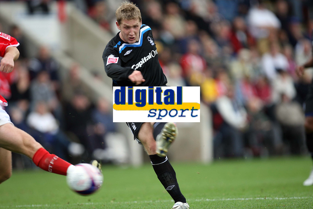 Photo: Rich Eaton.<br /> <br /> Cheltenham Town v Nottingham Forest. Coca Cola League 1. 13/10/2007. Forest's Kris Commons scores late in the first half to make it 2-0 and celebrates.