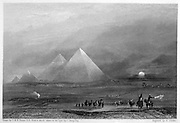 The Pyramids after a sketch by o the spot C Barry'. Engraving after JMW Turner. Egypt