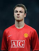 Fotball<br /> England<br /> Foto: Fotosport/Digitalsport<br /> NORWAY ONLY<br /> <br /> Jonny Evans<br /> <br /> Manchester United 2008/09<br /> Manchester United V Villarreal CF (0-0) 17/09/08<br /> UEFA Champions League