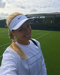 """Sabine Lisicki releases a photo on Instagram with the following caption: """"What a special place @wimbledon \u2764\ufe0f\ud83c\udfbe\ud83c\udf53"""". Photo Credit: Instagram *** No USA Distribution *** For Editorial Use Only *** Not to be Published in Books or Photo Books ***  Please note: Fees charged by the agency are for the agency's services only, and do not, nor are they intended to, convey to the user any ownership of Copyright or License in the material. The agency does not claim any ownership including but not limited to Copyright or License in the attached material. By publishing this material you expressly agree to indemnify and to hold the agency and its directors, shareholders and employees harmless from any loss, claims, damages, demands, expenses (including legal fees), or any causes of action or allegation against the agency arising out of or connected in any way with publication of the material."""