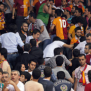 Galatasaray's supporters during their Turkish Basketball league Play Off Final fourth leg match Galatasaray between Fenerbahce Ulker at the Abdi Ipekci Arena in Istanbul Turkey on Saturday 11 June 2011. Photo by TURKPIX