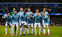 Football - 2017 / 2018 UEFA Champions League - Round of Sixteen, Second Leg: Manchester City (4) vs. FC Basel (0)<br /> <br /> Manchester City Team Group at The Etihad.<br /> <br /> COLORSPORT