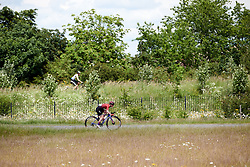 Alice Barnes (GBR) attacks at Stage 2 of 2019 OVO Women's Tour, a 62.5 km road race starting and finishing in the Kent Cyclopark in Gravesend, United Kingdom on June 11, 2019. Photo by Sean Robinson/velofocus.com