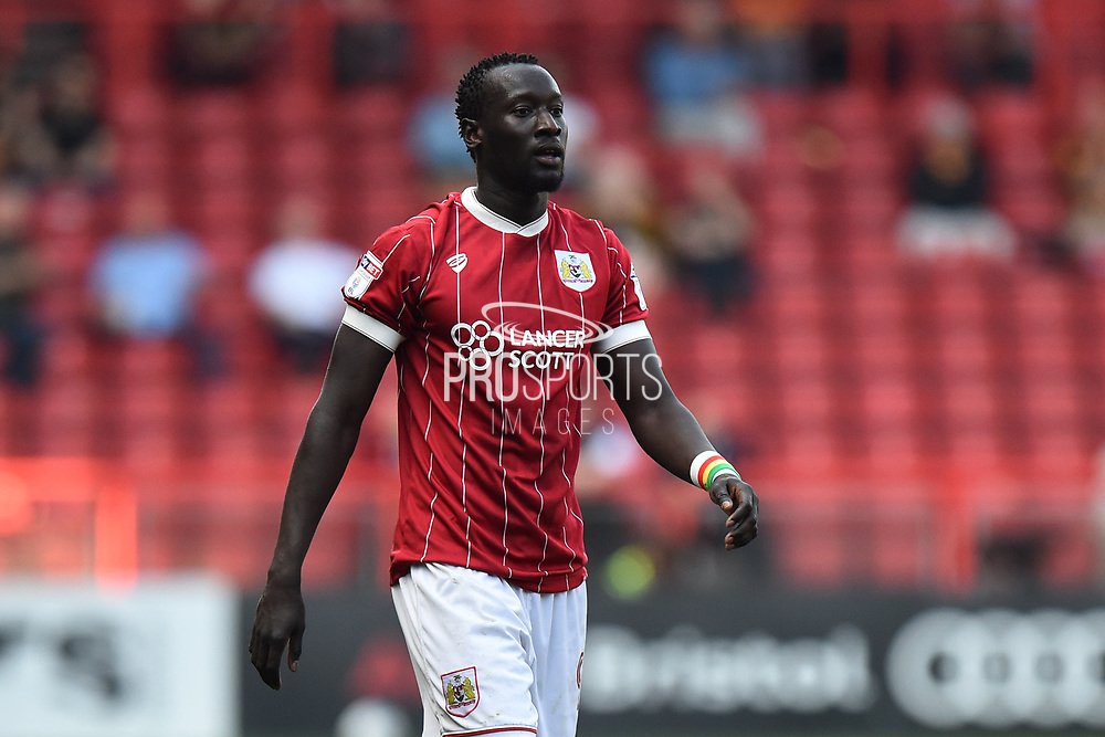 Famara Diedhiou (9) of Bristol City during the EFL Sky Bet Championship match between Bristol City and Hull City at Ashton Gate, Bristol, England on 21 April 2018. Picture by Graham Hunt.