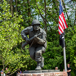 Ephrata, PA, USA - May 25, 2015: WWII Band of Brothers Commander Major Richard Winters statue was unveiled and dedicated on Memorial Day.