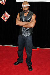Feb. 24, 2011 - Las Vegas, Nevada, USA -  Celebrity impersonator JOSH HARRAWAY as Tupac Shakur arrives at the 20th Annual The Reel Awards featuring celebrity impersonators at the Golden Nugget Hotel & Casino on Thursday, February 24, 2011 in Las Vegas, Nevada. (Credit Image: © David Becker/ZUMAPRESS.com)