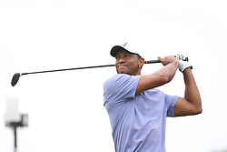 May 30, 2019 - Dublin, OH, U.S. - DUBLIN, OH - MAY 30: Tiger Woods watches his tee shot during the first round of The Memorial Tournament on May 30th 2019  at Muirfield Village Golf Club in Dublin, OH. (Photo by Ian Johnson/Icon Sportswire) (Credit Image: © Ian Johnson/Icon SMI via ZUMA Press)