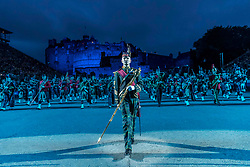 The 2019 Royal Edinburgh Military Tattoo launches its 2019 show Kaleidoscope. Staged on the Edinburgh Castle Esplanade between 2-24 August, the show marks its 69th year.<br /> <br /> Pictured: The Massed Pipes & Drums