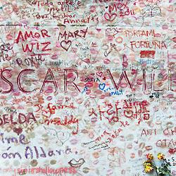 Oscar Wilde's Tomb, Paris, France