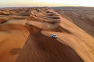 An aerial view for Ash Sharqiya sand dunes, Oman