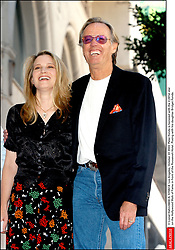 File photo - © Lionel Hahn/ABACA. 51582-8. Los Angeles-CA-USA, October 22 2003. Peter Fonda is honored with the 2,241st star on the Hollywood Walk of Fame in front of the Roosevelt Hotel. Posing with his daughter Bridget Fonda. Peter Fonda, the star, co-writer and producer of the 1969 cult classic Easy Rider, has died at the age of 79. Peter Fonda was part of a veteran Hollywood family. As well as being the brother of Jane Fonda, he was also the son of actor Henry Fonda, and father to Bridget, also an actor.