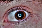 Extreme closeup of a human eye