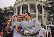 """Arnold Schwartzenneger at the """"Great American Workout"""" event held on the South Lawn of the White House..Photograph by Dennis Brack bb25"""