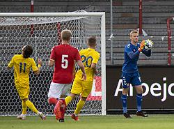 Oliver Christensen (Danmark) under U21 EM2021 Kvalifikationskampen mellem Danmark og Ukraine den 4. september 2020 på Aalborg Stadion (Foto: Claus Birch).