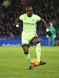 Eliaquim Mangala of Manchester City in action  - Mandatory byline: Jack Phillips/JMP - 07966386802 - 29/12/2015 - SPORT - FOOTBALL - Leicester - King Power Stadium - Leicester City v Manchester City - Barclays Premier League